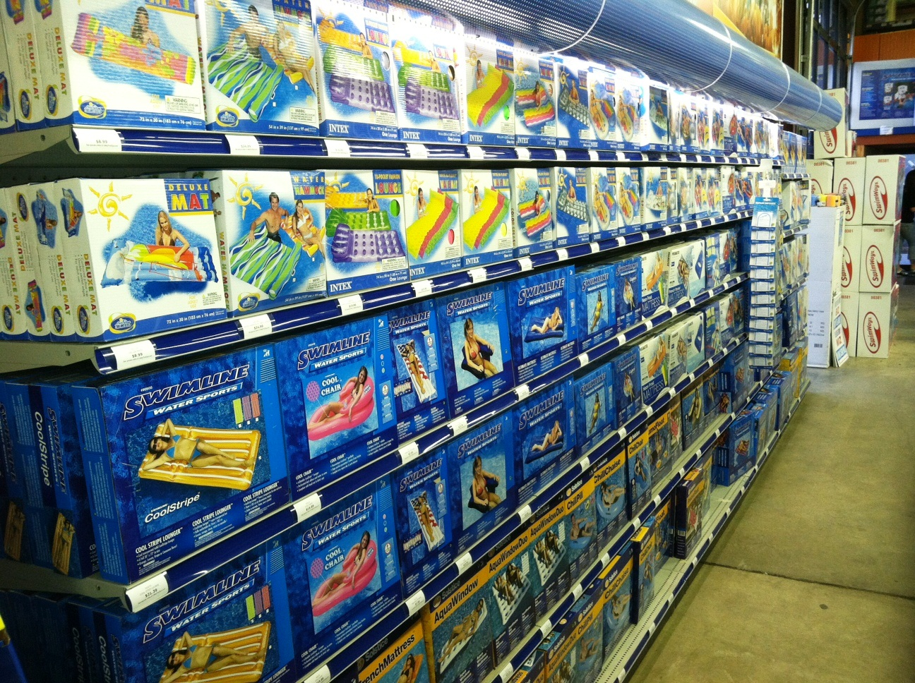 Valley Pool & Spa toy aisle- valley new addition